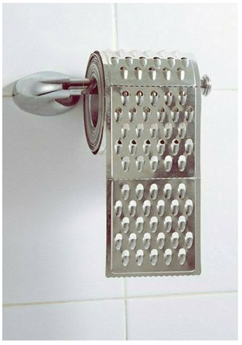 Grater Toilet Paper